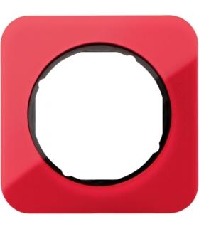 R.1 Ramka 1-krotna, akryl czerwony przezroczysty/czarny Berker 10112344
