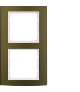 B.3 Ramka 2-krotna, alu, brązowy/biały Berker 10123021