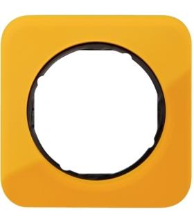 R.1 Ramka 1-krotna, akryl pomarańczowy przezroczysty/czarny Berker 10112334