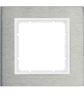 B.7 Ramka 1-krotna, stal szlachetna/biały Berker 10113609