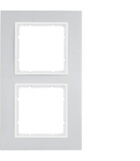 B.7 Ramka 2-krotna, alu/biały mat Berker 10126914