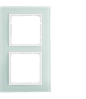 B.7 Ramka 2-krotna, szkło białe/biały mat Berker 10126909