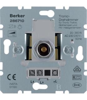 one.platform Ściemniacz obrotowy Tronic® 20-360 W, mechanizm Berker 286710