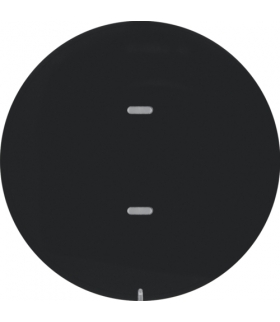 KNX e/s R.x/Serie 1930 Przycisk 1-kr z diod. LED RGB i czuj. temp., czarny,  poł.