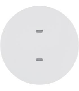 KNX e/s R.x/Serie 1930 Przycisk 1-kr z diod. LED RGB i czuj. temp., biały,  poł.