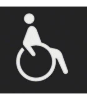 """W.1 Folia do sygnalizatora świetlnego symbol """"wózek inwalidzki"""" Berker 19058003"""