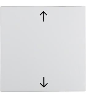 """S.1/B.3/B.7 Klawisz z nadrukiem symbolu """"strzałki"""", biały Berker 16201919"""