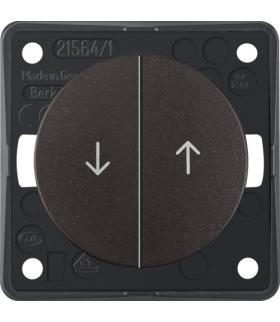 """Integro Flow Łącznik żaluzjowy wieloklawiszowy przyciskowy, z nadrukiem symbolu """"Strzałka"""", brązowy, mat Berker 936532501"""