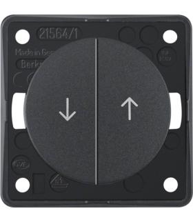 """Integro Flow Łącznik żaluzjowy wieloklawiszowy przyciskowy, z nadrukiem symbolu """"Strzałka"""", antracyt, mat Berker 936532505"""