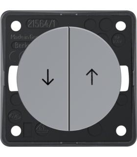 """Integro Flow Łącznik żaluzjowy wieloklawiszowy przyciskowy, z nadrukiem symbolu """"Strzałka"""", szary, połysk Berker 936532507"""