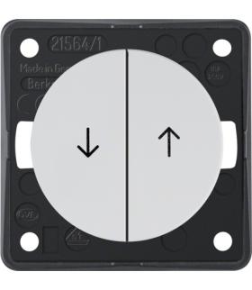 """Integro Flow Łącznik żaluzjowy wieloklawiszowy przyciskowy, z nadrukiem symbolu """"Strzałka"""", biały, połysk Berker 936532509"""