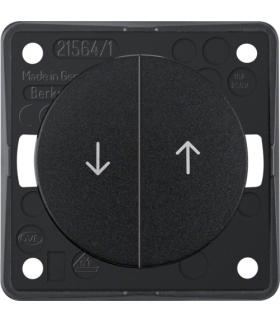 """Integro Flow Łącznik żaluzjowy wieloklawiszowy przyciskowy, z nadrukiem symbolu """"Strzałka"""", czarny, połysk Berker 936532510"""