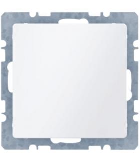 Q.x Zaślepka z płytką czołową, z cokołem i pazurkami, biały, aksamit Berker 6710096089