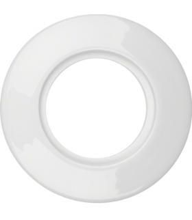 Serie 1930 Ramka 1-krotna porcelanowa, biały Berker 138169
