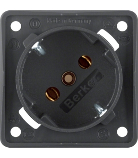 Integro Flow Gniazdo SCHUKO 45°, mechanizm, antracyt, mat Berker 841852525