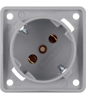Integro Flow Gniazdo SCHUKO 45°, mechanizm, szary, mat Berker 841852526