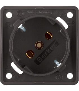 Integro Flow Gniazdo SCHUKO 45°, mechanizm, brązowy, mat Berker 841852521