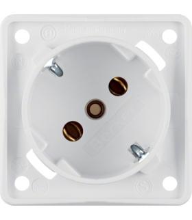 Integro Flow Gniazdo SCHUKO 45°, mechanizm, biały, mat Berker 841852522