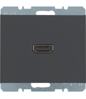 K.1 Gniazdo HDMI z przyłączem 90°, antracyt, mat Berker 3315437006