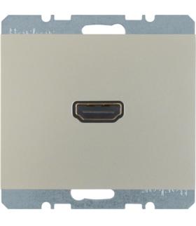 K.5 Gniazdo HDMI z przyłączem 90°, stal szlachetna, lakierowany Berker 3315437004