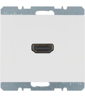 K.1 Gniazdo HDMI z przyłączem 90°, biały, połysk Berker 3315437009