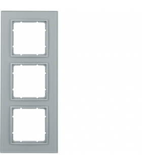 B.7 Ramka 3-krotna, szkło alu/alu mat lakierowany Berker 10136414