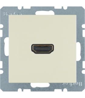B.Kwadrat/S.1 Gniazdo HDMI, kremowy, połysk Berker 3315428982