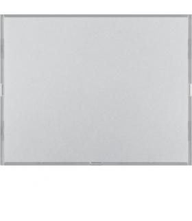 KNX e/s K.x Przycisk 1-kr z polem opis., diod. LED RGB i czuj. temp., alu