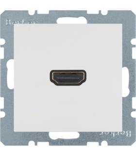 B.x/S.1 Gniazdo HDMI, biały, połysk Berker 3315428989