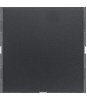 KNX e/s B.x Przycisk 1-kr z p. opis., diod. LED RGB i czuj. temp., ant. i alu