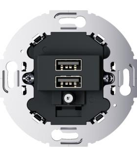 Mechanizm gniazda USB ładowania do serii obrotowych, 3.0 A 230 V, antracyt, mat Berker 260215