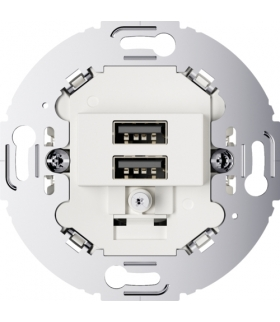 Mechanizm gniazda USB ładowania do serii obrotowych, 3.0 A 230 V, biały, mat Berker 260219