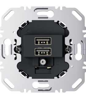 one.platform Mechanizm gniazda USB ładowania 3.0 A 230 V, antracyt, mat Berker 260205