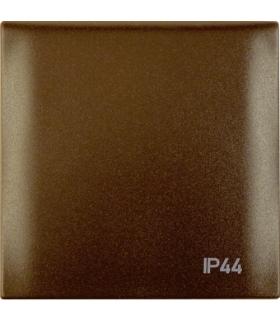 """Integro Flow Ramka z pokrywą z nadrukiem """"IP44"""", brązowy, mat Berker 918282591"""