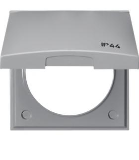 """Integro Flow Ramka z pokrywą z nadrukiem """"IP44"""", szary, połysk Berker 918282597"""