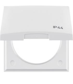 """Integro Flow Ramka z pokrywą z nadrukiem """"IP44"""", biały, połysk Berker 918282599"""