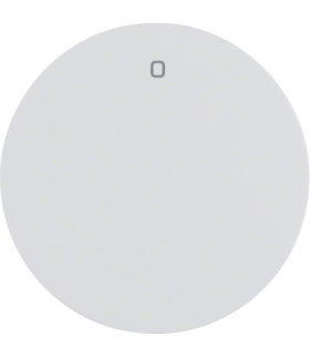 """R.1/R.3 Klawisz z nadrukiem """"0"""" do łącznika klawiszowego pojedynczego, biały, połysk Berker 16222089"""