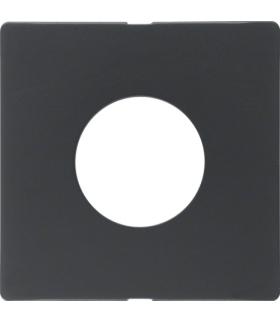 Q.x Płytka czołowa do łącznika i sygnalizatora świetlnego E10, antracyt aksamit, lakierowany Berker 11246086
