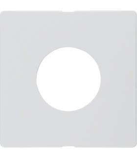 Q.x Płytka czołowa do łącznika i sygnalizatora świetlnego E10, biały, aksamit Berker 11246089
