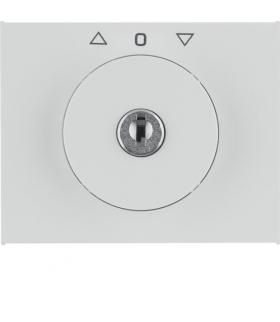K.1 Płytka czołowa z kluczykiem do łącznika żaluzjowego obrotowego, biały Berker 10797309