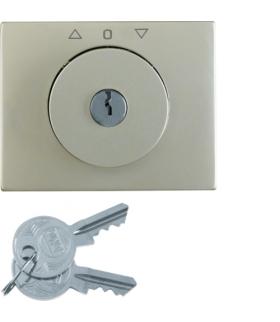 K.5 Płytka czołowa z kluczykiem do łącznika żaluzjowego obrotowego, stal szlachetna nierdzewna Berker 10797304