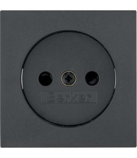 B.3/B.7 Płytka czołowa do gniazda bez uziemienia, antracyt Berker 3967331606