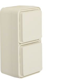 W.1 Gniazdo SCHUKO 2P+Z 2-kr pionowe, kompletne, IP55, biały Berker 47703522