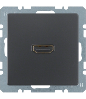 Q.x Gniazdo HDMI z przyłączem 90°, antracyt aksamit, lakierowany Berker 3315436086