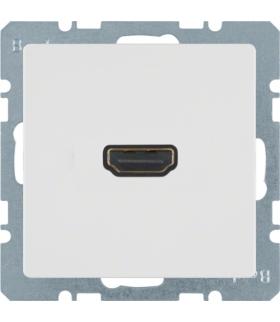 Q.x Gniazdo HDMI z przyłączem 90°, biały, aksamit Berker 3315436089