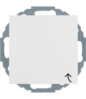 S.1/B.3/B.7 Gniazdo SCHUKO z uziemieniem z pokrywą z przesłonami styków, zaciski śrubowe, biały Berker 47441909
