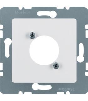 B.Kwadrat Płytka czołowa do gniazd XLR, biały, połysk Berker 141209