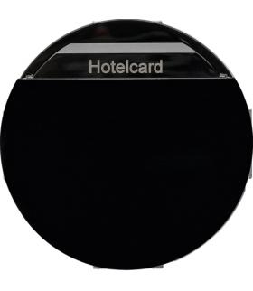 R.classic/Serie 1930/Glas Łącznik przekaźnikowy na kartę hotelową, czarny, połysk Berker 16402035