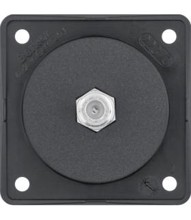 Integro Flow Gniazdo przyłączeniowe anteny SAT, mechanizm, czarny, mat Berker 9451905