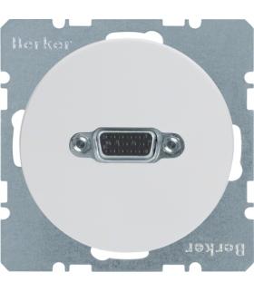 R.1/R.3 Gniazdo VGA, zaciski śrubowe, biały, połysk Berker 3315412089
